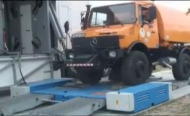Mobile test station for heavy lorry category